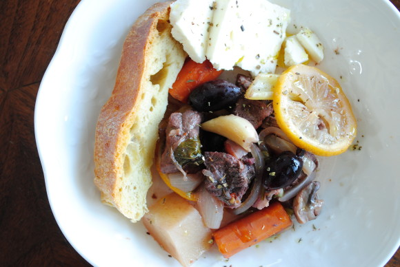 Holiday Beef Stew with Bread Wreath