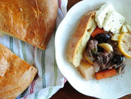 Holiday Beef Stew Bread Wreath