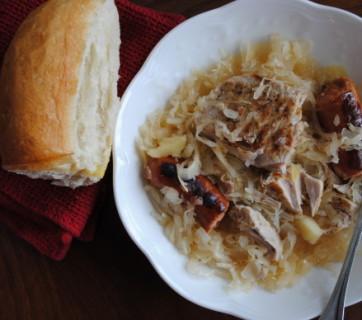 Sausage, Pork Chops & Sauerkraut
