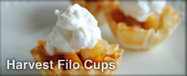 harvest filo cups