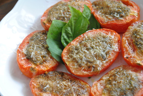 Roasted Pesto Tomatoes