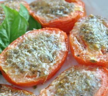 pesto tomatoes