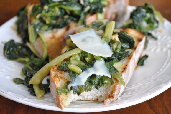 Grilled Rustic Bread w/Escarole