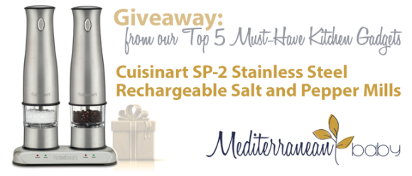 Mediterranean Baby Cuisinart Salt and Pepper Giveaway