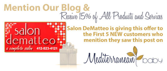 Salon DeMatteo Coupon mediterraneanbaby