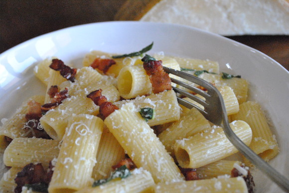 Bacon, Sage and Brown Butter Rigatoni Mediterranean Baby (2)