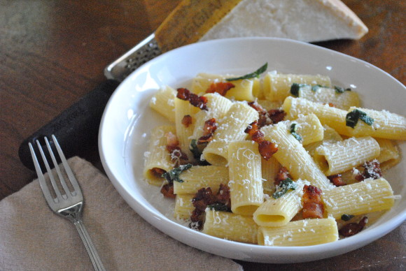 Bacon, Sage and Brown Butter Rigatoni Mediterranean Baby (6)