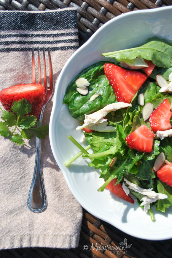 Strawberry Baby Greens Salad with Agave Cilantro Dressing - Mediterranean Baby (2)