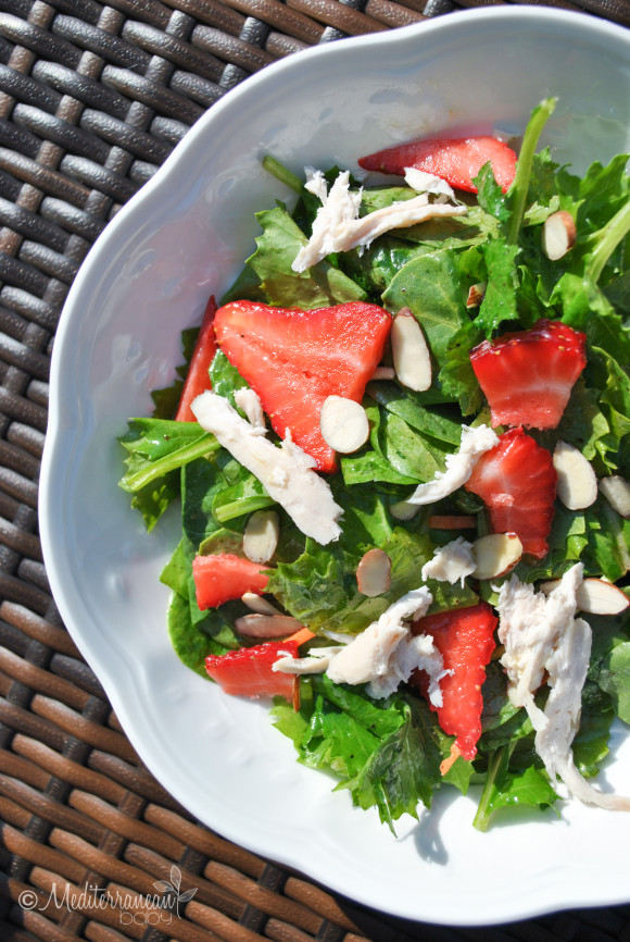 Strawberry Baby Greens Salad with Agave Cilantro Dressing - Mediterranean Baby (6)
