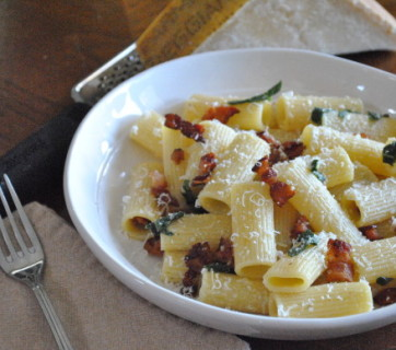 Bacon-Sage-and-Brown-Butter-Rigatoni-Mediterranean-Baby