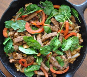 Skillet-Steak-Fajitas-Mediterranean-Baby