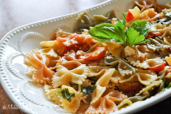 Summer Garden Pasta by Mediterranean Baby-4