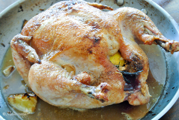Whole Garlic Rosemary Roasted Chicken by Mediterranean baby-2