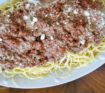 Easy Greek Spaghetti by Mediterranean Baby-2