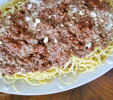 Easy Greek Spaghetti by Mediterranean Baby-2