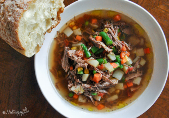 Slow Cooker Beef Vegetable Soup Mediterranean Baby-1