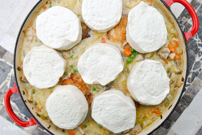 Easy Skillet Chicken Pot Pie with Biscuits Mediterranean Baby (3 of 6)