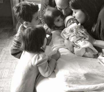 Birth Annoucement Mediterranean Baby