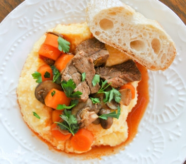 guinness stew with cheese grits